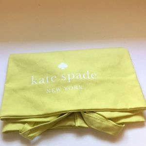 Kate Spade Yellow Cotton Canvas Tote